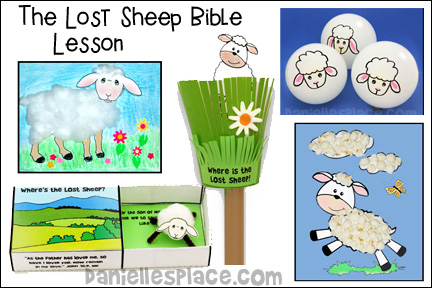 The Lost Sheep Bible Lesson for Childlren from Daniellesplace.com