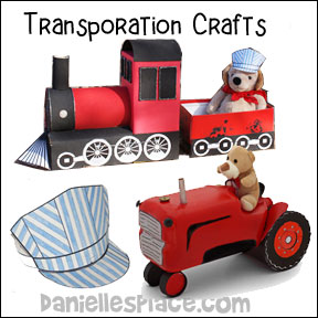 Transporation Crafts for Children from www.daniellesplace.com
