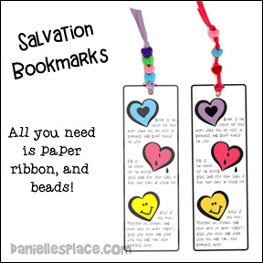 Salvation Bookmark Craft from www.daniellesplace.com