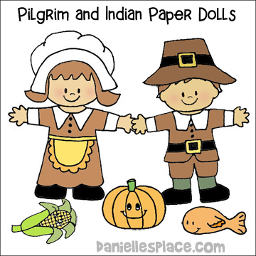 Thanksgiving Paper Dolls Craft