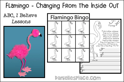 ABC, I Believe - Flamingo Bible Lesson for Homeschool from www.daniellesplace.com