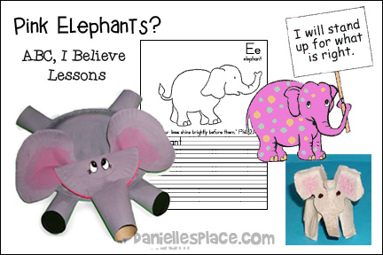 Pink Elephant Bible Lesson - ABC, I Believe Bible Lesson