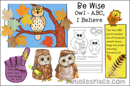 ABC, I Believe - Owl Bible Lesson for Homeschool from www.daniellesplace.com