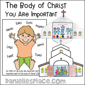 The Body of Christ Bible Lesson for Children from www.daniellesplace.com