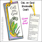 Call On God Bookmark Craft for Kids from www.daniellesplace.com