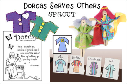 craft ideas for bible lesson on dorcas