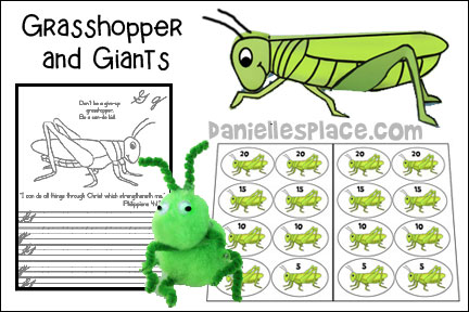 ABC, I Believe - Grasshopper - Bible Lesson  for Homeschool from www.daniellesplace.com