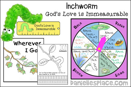 ABC, I Believe Inchworm Bible lesson for Homeschool from www.daniellesplace.com