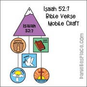 Isaiah 52 Great Commission Mobile Craft