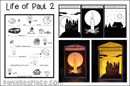 Life of Paul Bible Lesson 2 - Paul Sees the Light from www.daniellesplace.com