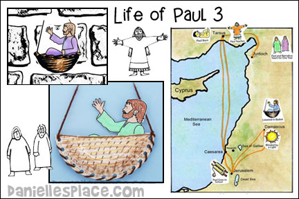 Life of Paul 3 - Paul Escapes over a Wall Bible Lesson from www.daniellesplace.com