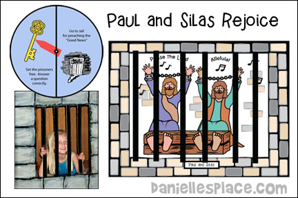 Paul and Silas Rejoice Bible Lesson from www.daniellesplace.com