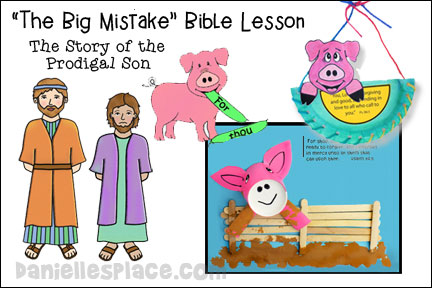 ABC, I Believe - Pig Bible Lesson for Homeschool from www.daniellesplace.com