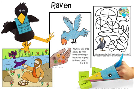 ABC, I Believe - Raven Bible Lesson for Homeshool from www.daniellesplace.com