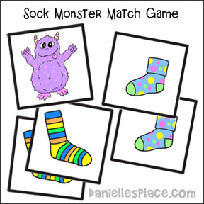 Sock Monster Match Game