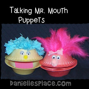 Talking Mouth Bowl Puppets