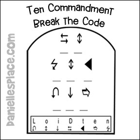 Break the Code Ten Commandment Puzzle