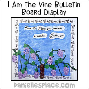 I am the Vine Bulletin Board Display fromw ww.daniellesplace.com