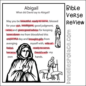 Abigail Bible Lesson Bible Crafts And Bible Games For Children