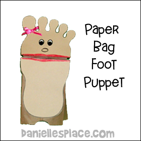 Paper Bag Foot Puppet Craft
