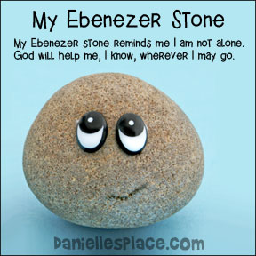 My Ebenezer Stone Bible Craft for Samuel Bible Lesson
