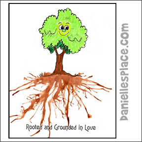 Rooted in Love Paint and straw Craft