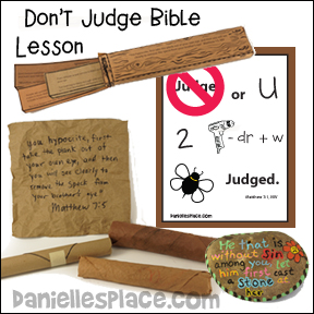 Don't Judge or You Will Be Judged Bible Lesson for Children from www.daniellesplace.com