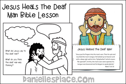 Jesus Heals the Deaf Man Bible Lesson for Children