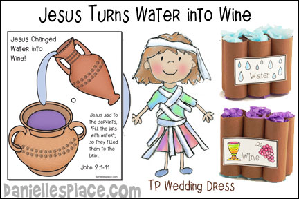 Jesus Turns Water into Wine Bible Lesson from Danielle's Place