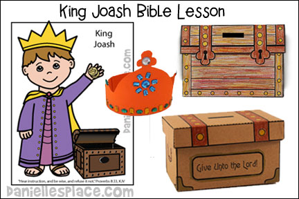 King Joash Bible Crafts and Bible Lesson