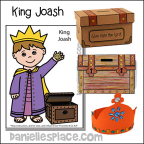 King Joash Bible Lesson and Crafts