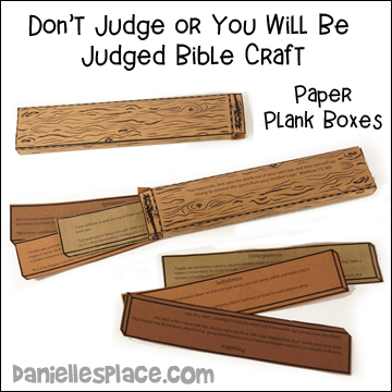 Don't Judge or you Will be Judged Box Bible Craft from www.daniellesplace.com