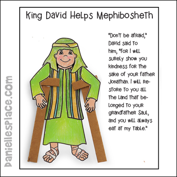 Mephibosheth Activity Sheet for Children's Church