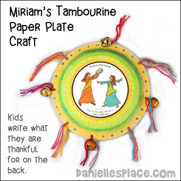 Miriam's Tambourine Paper Plate Craft for Sunday School