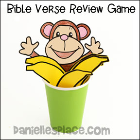 Monkey in a Cup Bible Verse Review Game