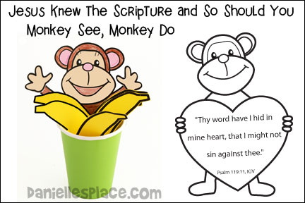 Monkey See, Monkey Do Jesus Knew the Scripture and So Should You