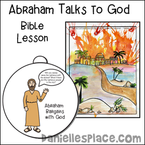 Abraham Talks to God Bible Lesson about Sodom and Gomorrah