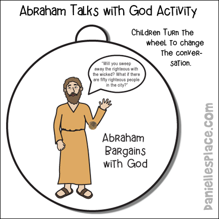 Abraham talks to God conversation Activity Sheet - Abraham Bargains with God Craft from www.daniellesplace.com