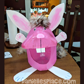 Bunny Millk Jug Craft from www.daniellesplace.com
