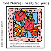 Creation of Flower and Seeds Bible Craft