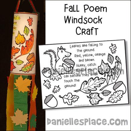 Fall Windsock with Poem Craft for Children