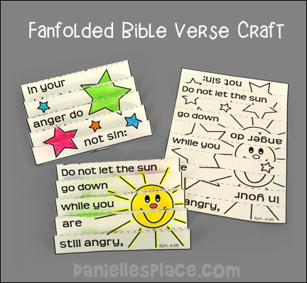 Bible Verse Review  Fanfolding Activity Sheets