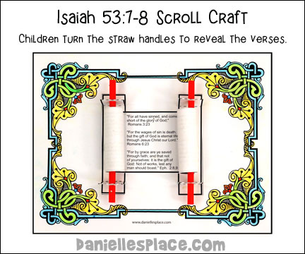Isaiah 53:7-8 Scroll Craft and Activity Sheet