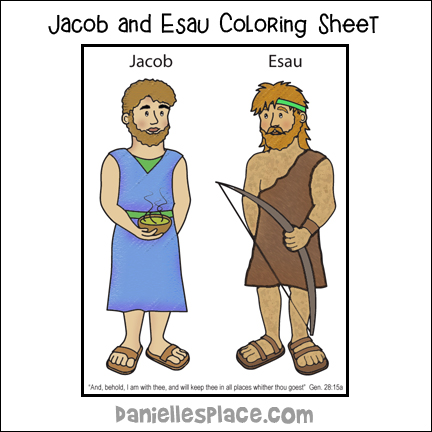 Jacob And Esau Bible Crafts For Kids