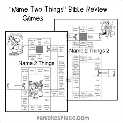 """Name Two Things"" Bible Review Games"