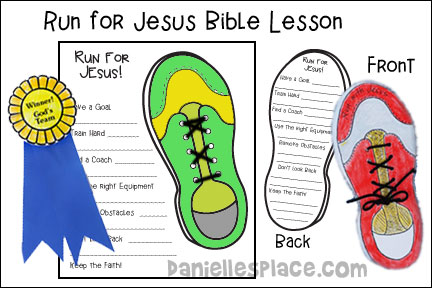 Running for Jesus Bible Crafts