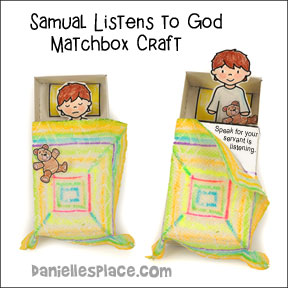 Samuel Listens to God Matchbox Bible Craft