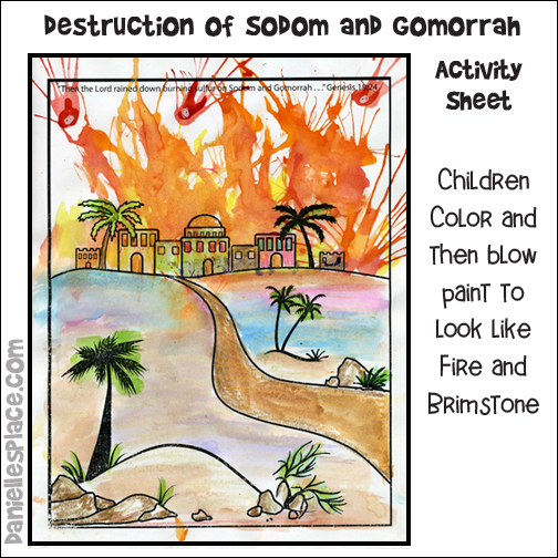 The Destruction of Sodom and Bomorrah Activity Sheet