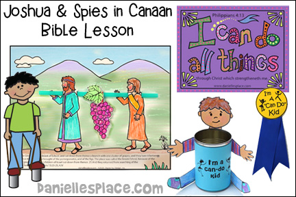 Joshua and Spies Enter Canaan Bible Lesson from Danielle's Place
