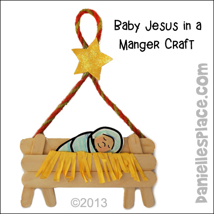 Baby Jesus in a Manger Christmas Ornament Craft for Kids